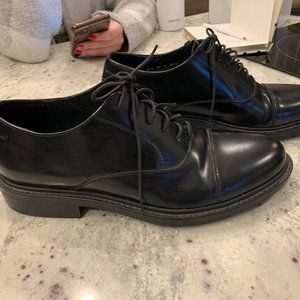 Bostonian Strada Black Leather Oxfords 9.5 NEW